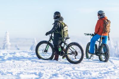 Guided e- Fat biking trip at Tahko