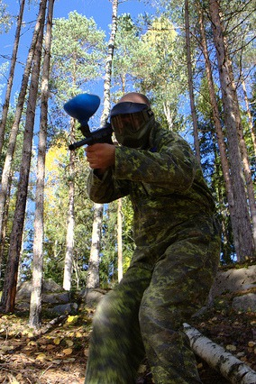 Paintball games at Tahko